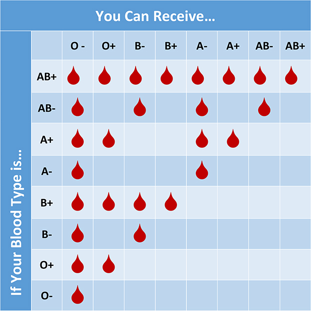 parent blood type chart