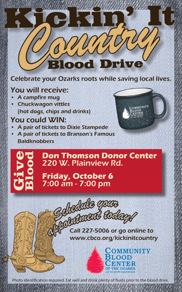 Kickin It Country Blood Drive Community Blood Center